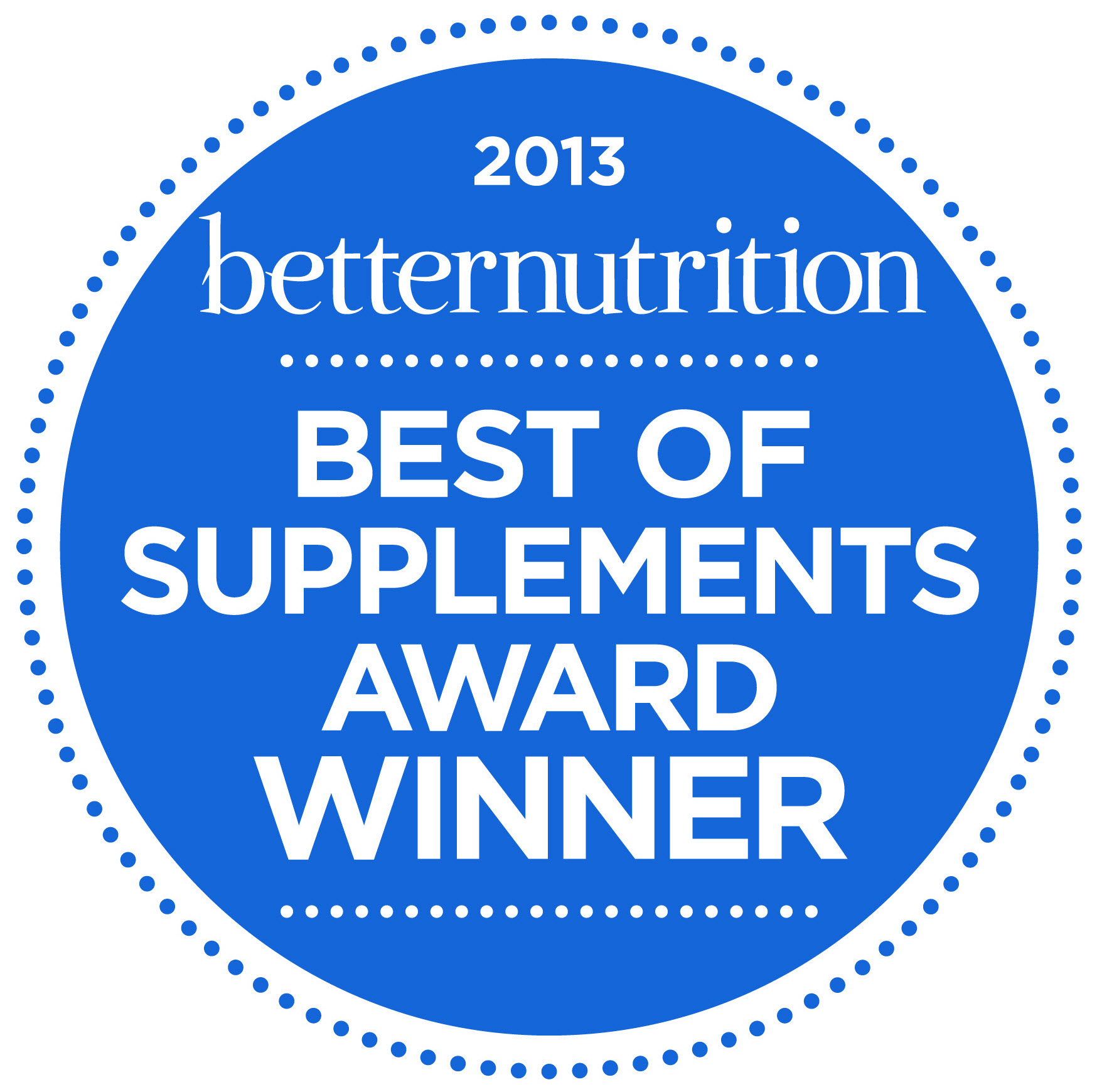 Supplement of the Year 2013